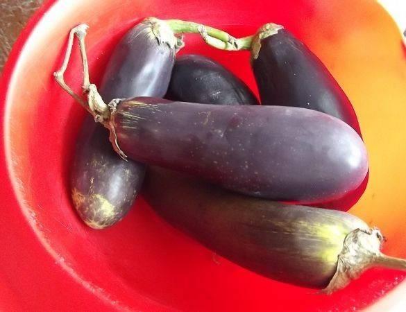 Подготовим овощи. Баклажаны моем.