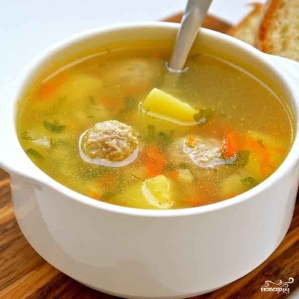 Суп готов. Подавайте со свежей зеленью. Приятного аппетита!