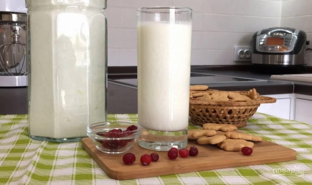 5. Для вкуса в кефир можно добавить ягоды, варенье. Приятного аппетита!