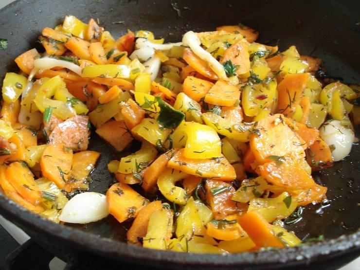 Перец должен быть готовым и ароматным.