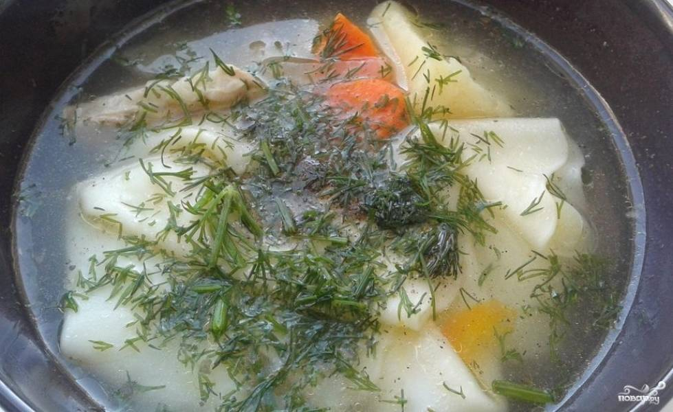 Легкий суп со свининой