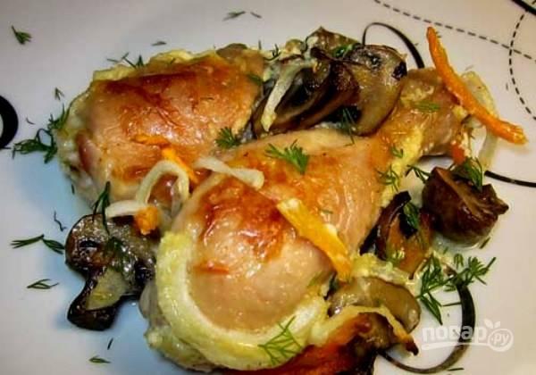 Курица в духовке под сливочным соусом
