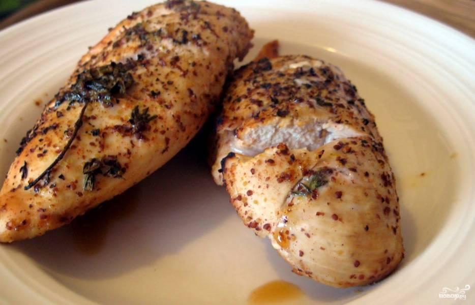 Курица с горчицей в духовке