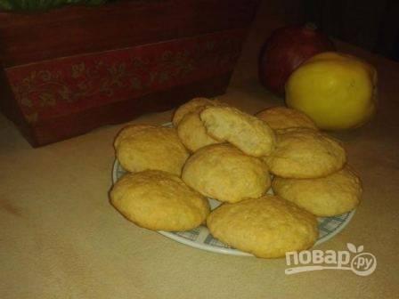 Из одной порции получается 10-12 вкусных и мягких печенек.