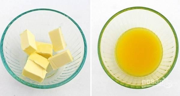 3. Сливочное масло растопите.