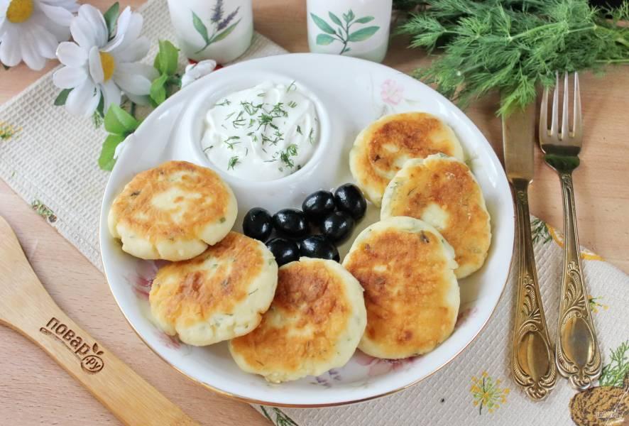 Сырники с луком