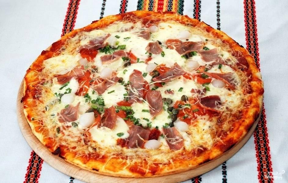 Пицца с ветчиной в мультиварке