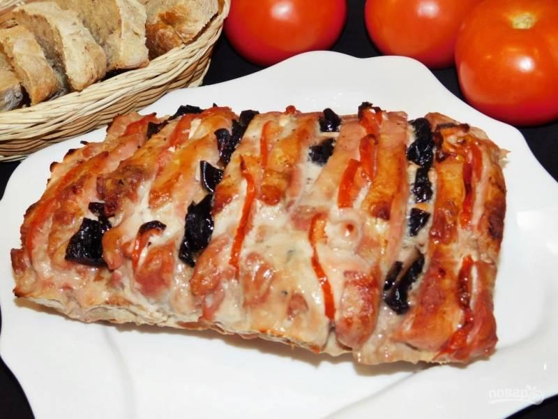 Фаршированная свинина из духовки