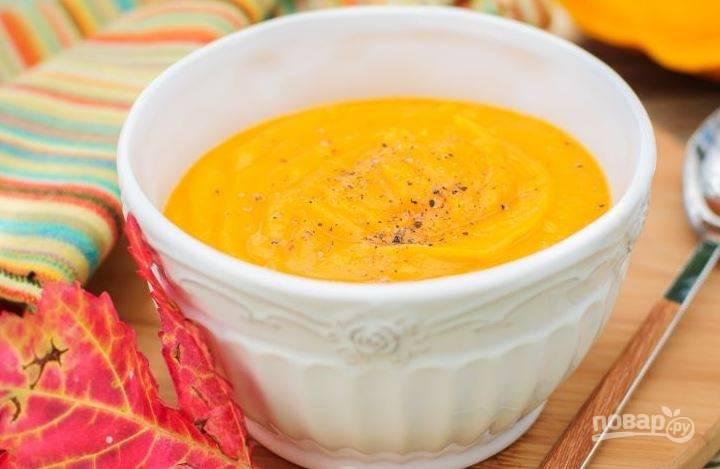 Суп с тыквой постный