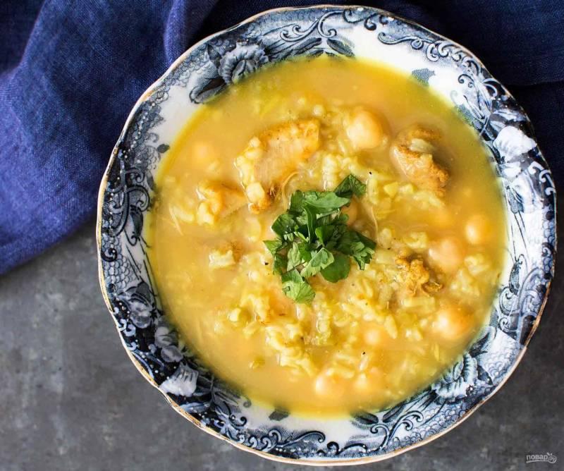 Лимонный куриный суп