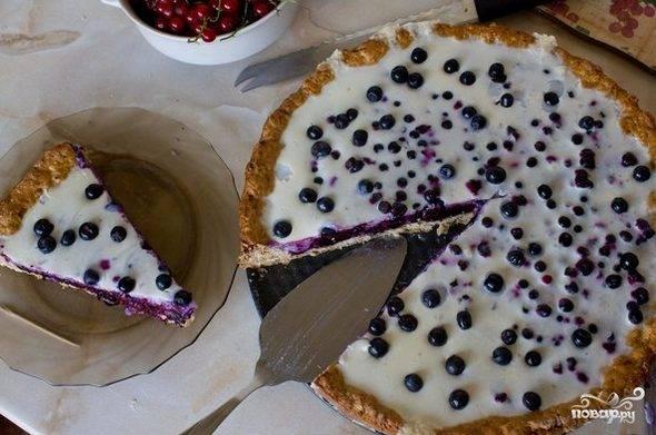 Черничный пирог-желе