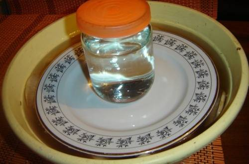 2. Вымачиваем грибы в подготовленной соленой воде (10 г соли и 2 г лимонной кислоты на 1 л воды). Оставим на сутки. Воду хотя бы два раза рекомендуют менять.