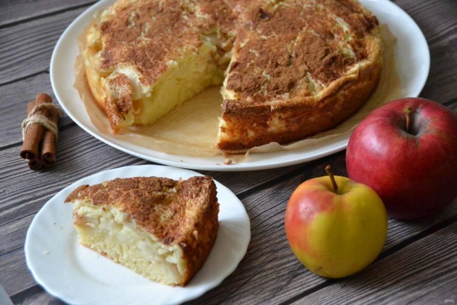 Турецкий яблочный пирог получился нежным, ароматным, вкусным и достаточно большим, хватит на всех!
