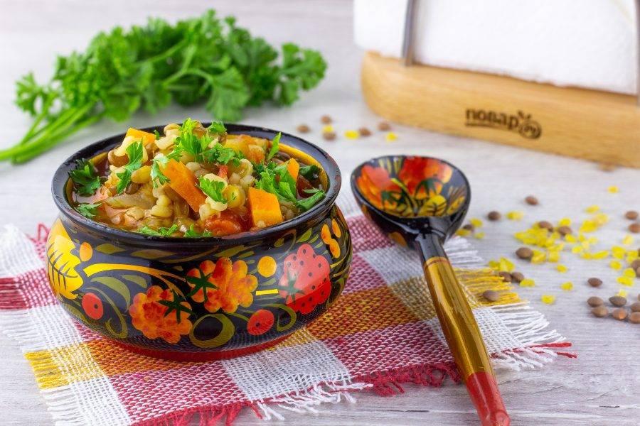 Подавайте со свежей зеленью кинзы. Приятного аппетита!