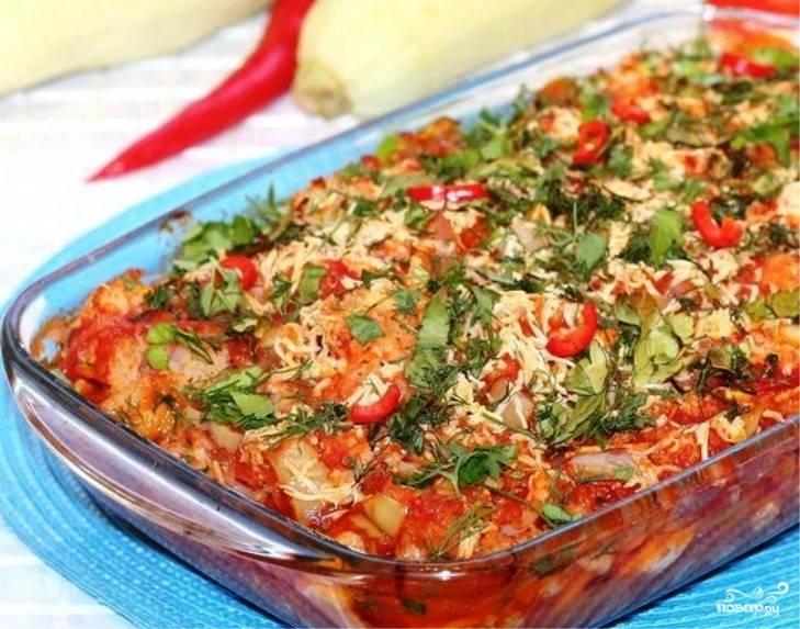 Курица с овощами (слоями)