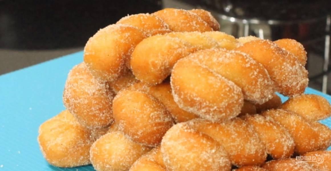 Самые нежные пончики из дрожжевого теста