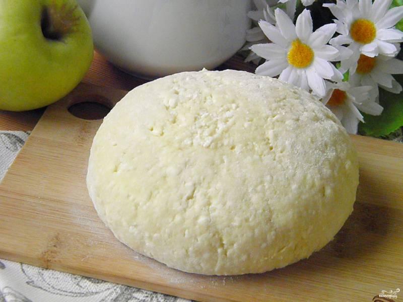 Творожное тесто для пирога с яблоками