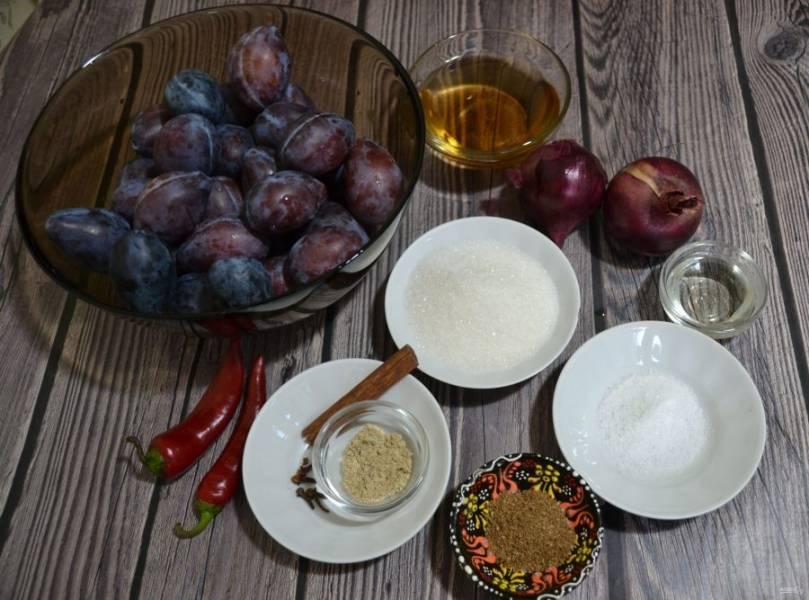 Подготовьте ингредиенты к рецепту.