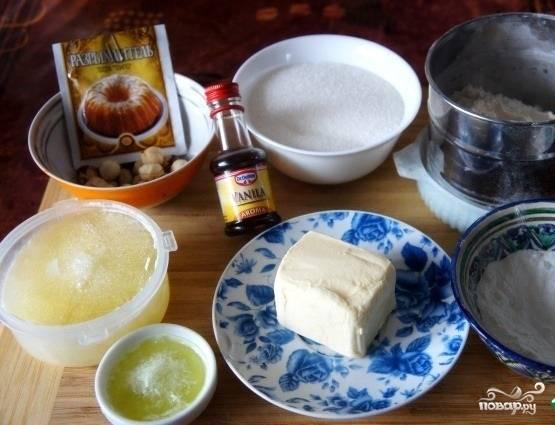 1.Подготавливаем все ингредиенты для выпечки.