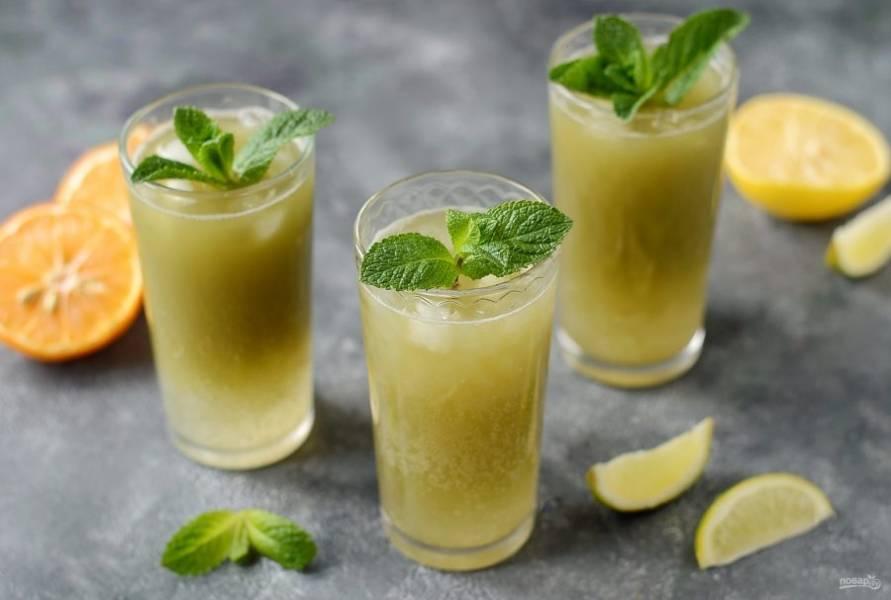 Лимонад с матча готов, приятного вам аппетита!