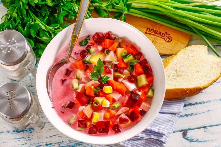 Актуально летом! Рецепты холодных супов