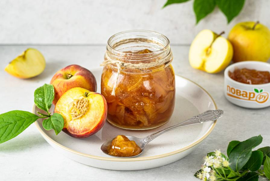 Варенье из яблок и персиков