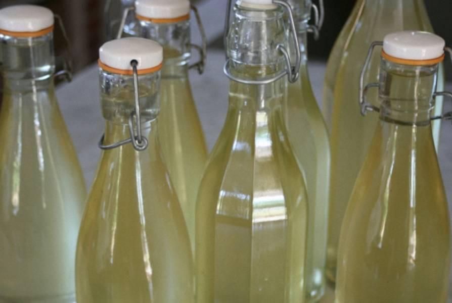 Молодое вино процедите и разлейте по бутылкам. Напиток должен дозреть в прохладном месте (примерно 1-2 месяца). Удачи!