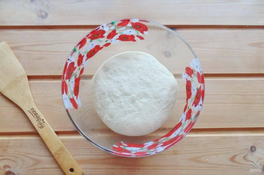 Замесите мягкое и эластичное тесто.