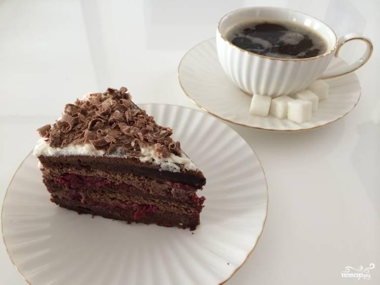 Шоколадный бисквитный торт