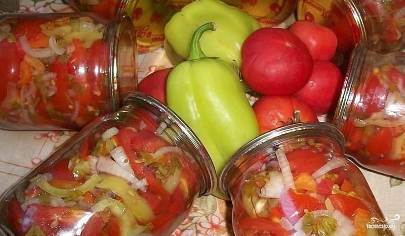 """Салат из помидоров на зиму """"Пальчики оближешь"""""""