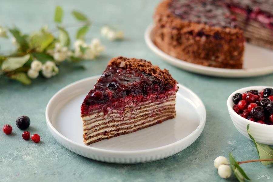 Ягодный торт с кремом