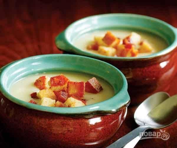 Картофельный суп-пюре с гренками (оригинальный рецепт)