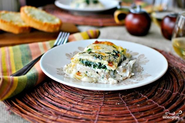 Лазанья с творогом и сыром