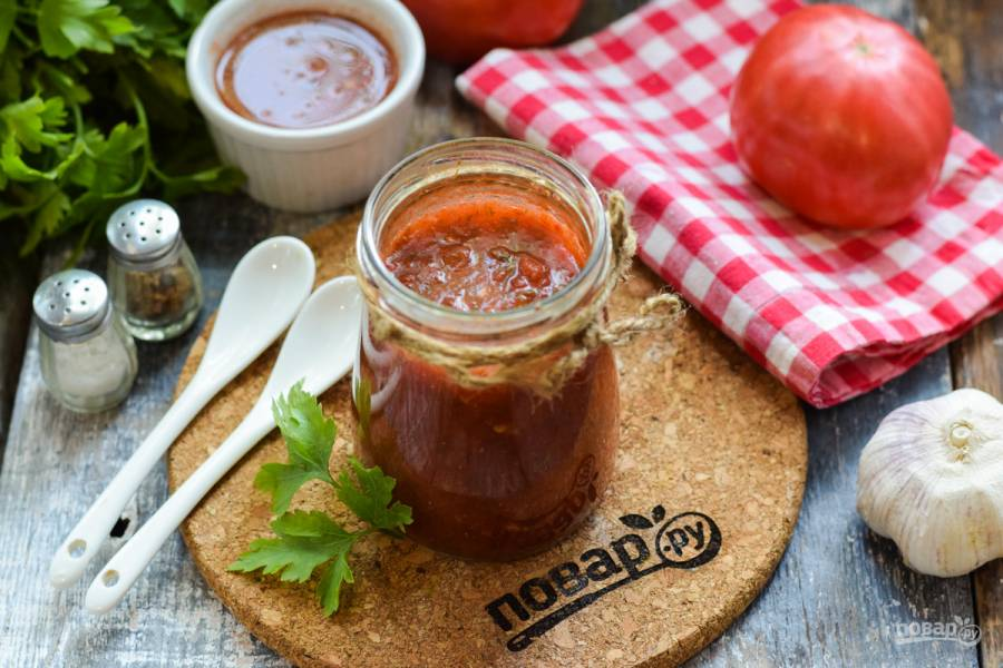 Грузинский томатный соус на зиму
