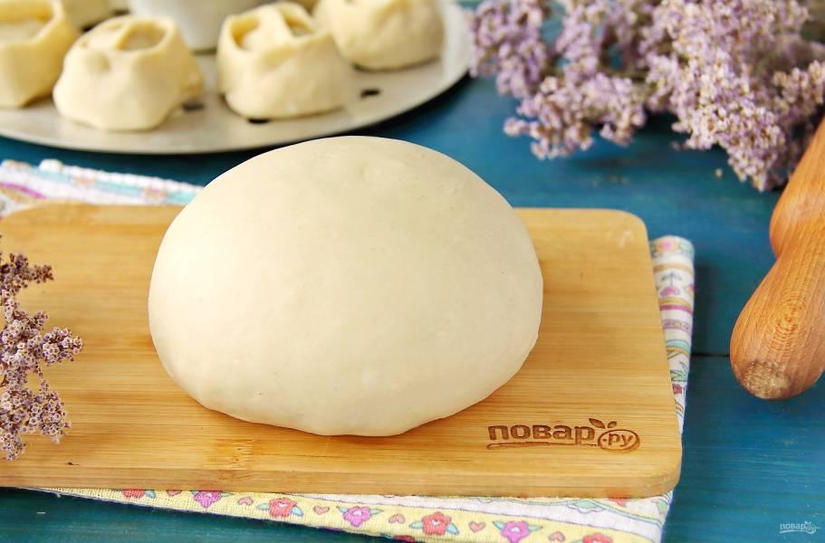 Тесто на манты без яиц