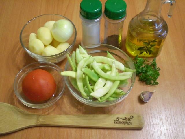 Подготовим овощи для супа.