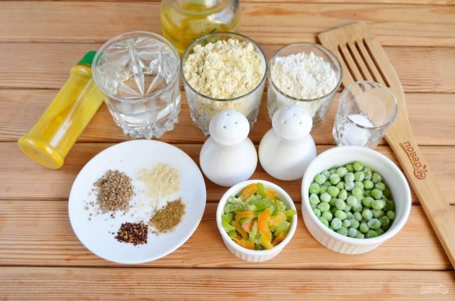 Подготовьте овощи и специи согласно продуктовому списку. Приступим!