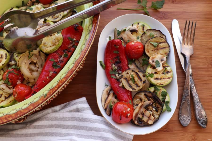 Овощи на сковороде-гриль
