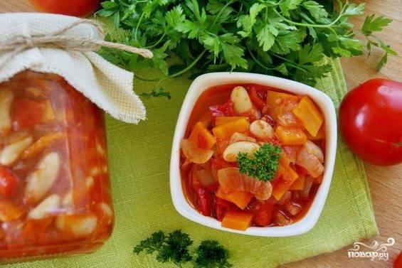 Закатка салатов с фасолью