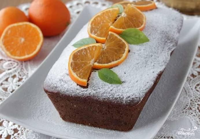 Шоколадный кекс с апельсином