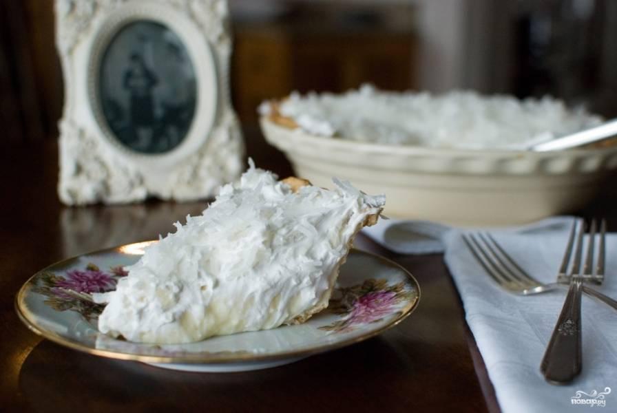 Кокосовый кремовый пирог