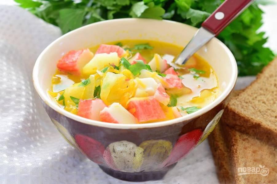 Суп из крабовых палочек