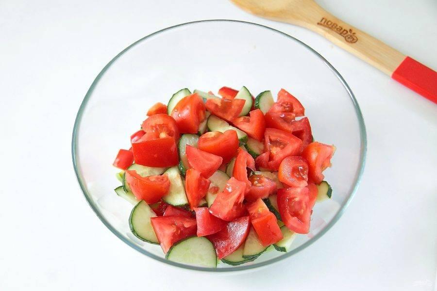 5. Крупно нарезанный помидор.