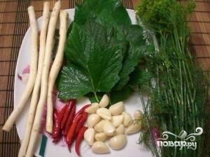 Приготовить специи, зелень, корни.