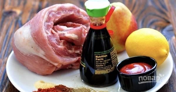 Итак, для начала подготовим все необходимые для создания блюда ингредиенты.