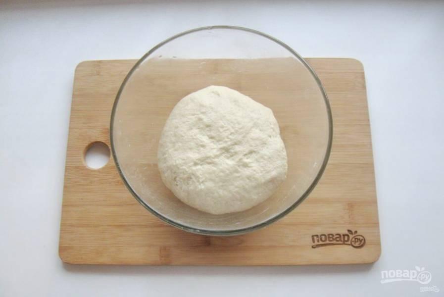 Замесите гладкое, эластичное тесто и выложите в миску. На дно миски налейте немного масла.