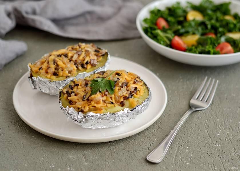 Крошка картошка с грибами