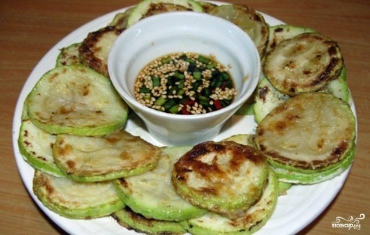 Жареные кабачки по-корейски