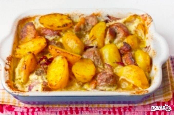 Картофель со свининой по-домашнему