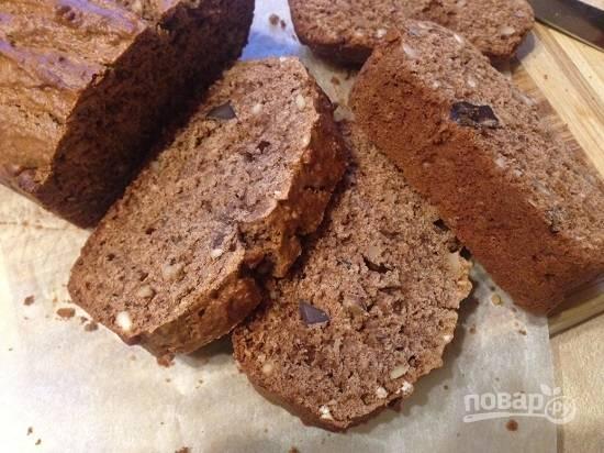 Сразу после выпечки кекс будет мягким, а когда остынет, станет более крохким. Вкусно!